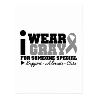 I Wear Gray Ribbon For Someone Special Postcard