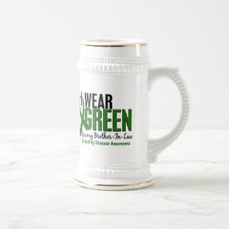 I Wear Green Brother-In-Law 10 Kidney Disease 18 Oz Beer Stein
