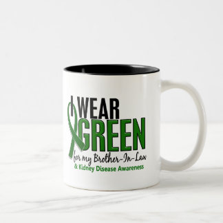 I Wear Green Brother-In-Law 10 Kidney Disease Two-Tone Coffee Mug
