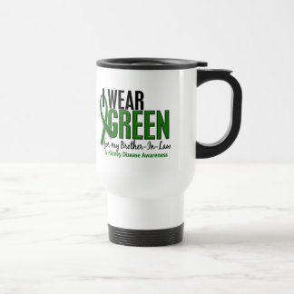 I Wear Green Brother-In-Law 10 Kidney Disease 15 Oz Stainless Steel Travel Mug
