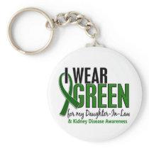 I Wear Green Daughter-In-Law 10 Kidney Disease Keychain