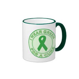 I Wear Green For A Cure Mug
