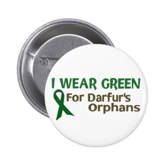 I Wear Green For DARFUR'S ORPHANS Pinback Button