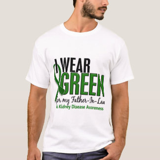 I Wear Green For Father-In-Law 10 Kidney Disease T-Shirt