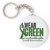 I Wear Green For Granddaughter 10 Kidney Disease Keychain