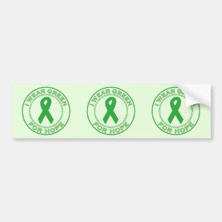 I Wear Green For Hope Bumper Sticker