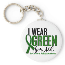 I Wear Green For ME 10 Cerebral Palsy Keychain