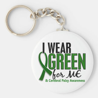 I Wear Green For ME 10 Cerebral Palsy Keychains