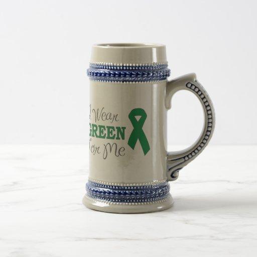 I Wear Green For Me (Green Awareness Ribbon) Coffee Mugs