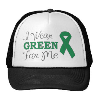I Wear Green For Me (Green Awareness Ribbon) Trucker Hat