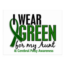 I Wear Green For My Aunt 10 Cerebral Palsy Postcard