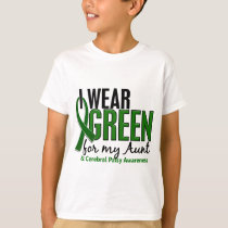 I Wear Green For My Aunt 10 Cerebral Palsy T-Shirt