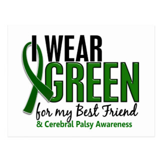 I Wear Green For My Best Friend 10 Cerebral Palsy Postcard