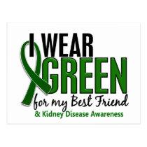 I Wear Green For My Best Friend 10 Kidney Disease Postcard