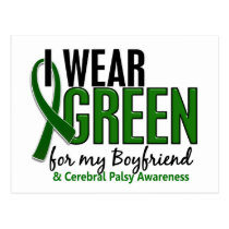 I Wear Green For My Boyfriend 10 Cerebral Palsy Postcard
