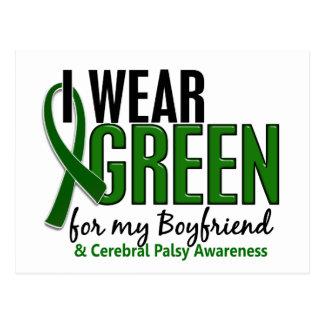 I Wear Green For My Boyfriend 10 Cerebral Palsy Postcard