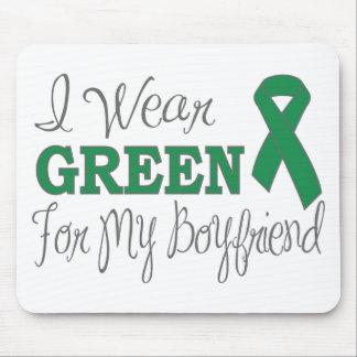 I Wear Green For My Boyfriend Green Ribbon Mousepad