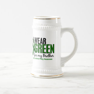 I Wear Green For My Brother 10 Cerebral Palsy Beer Stein