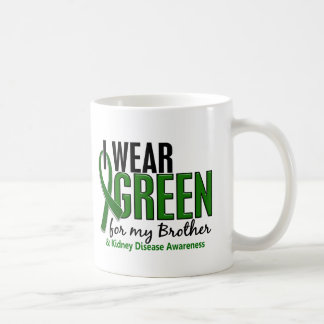 I Wear Green For My Brother 10 Kidney Disease Classic White Coffee Mug