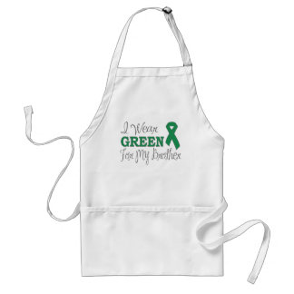 I Wear Green For My Brother (Green Ribbon) Adult Apron