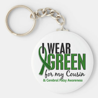 I Wear Green For My Cousin 10 Cerebral Palsy Keychain