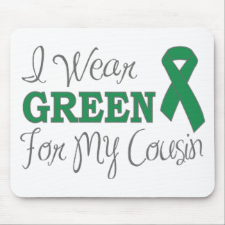 I Wear Green For My Cousin Green Ribbon Mouse Pads