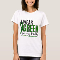 I Wear Green For My Daddy 10 Kidney Disease T-Shirt