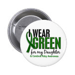 I Wear Green For My Daughter 10 Cerebral Palsy 2 Inch Round Button