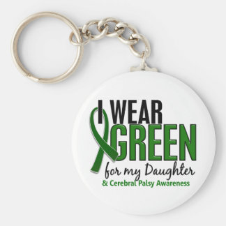 I Wear Green For My Daughter 10 Cerebral Palsy Keychain