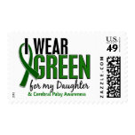 I Wear Green For My Daughter 10 Cerebral Palsy Postage