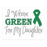 I Wear Green For My Daughter (Green Ribbon) Postcard