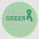 I Wear Green For My Daughter (Green Ribbon) Sticker