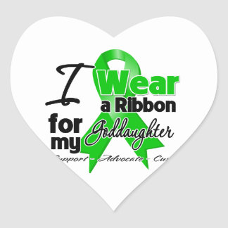 I Wear Green For My Goddaughter Stickers
