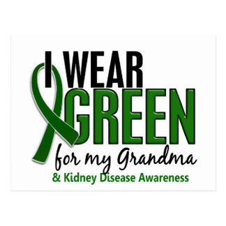 I Wear Green For My Grandma 10 Kidney Disease Postcard