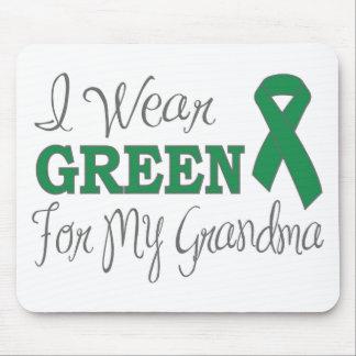 I Wear Green For My Grandma Green Ribbon Mousepads