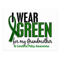 I Wear Green For My Grandmother 10 Cerebral Palsy Postcard