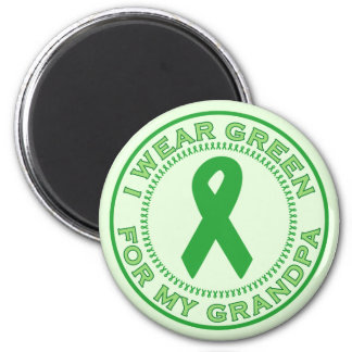 I Wear Green For My Grandpa 2 Inch Round Magnet