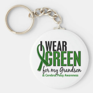 I Wear Green For My Grandson 10 Cerebral Palsy Key Chain