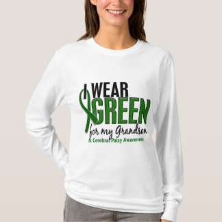 I Wear Green For My Grandson 10 Cerebral Palsy T-Shirt