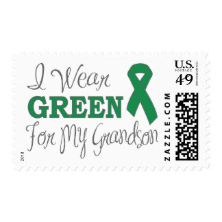 I Wear Green For My Grandson (Green Ribbon) Stamp