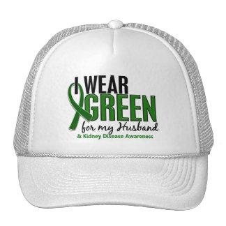 I Wear Green For My Husband 10 Kidney Disease Trucker Hat