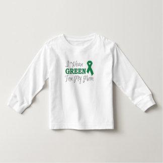 I Wear Green For My Mom (Green Awareness Ribbon) Toddler T-shirt
