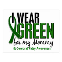 I Wear Green For My Mommy 10 Cerebral Palsy Postcard