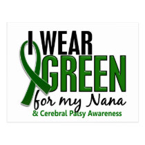 I Wear Green For My Nana 10 Cerebral Palsy Postcard
