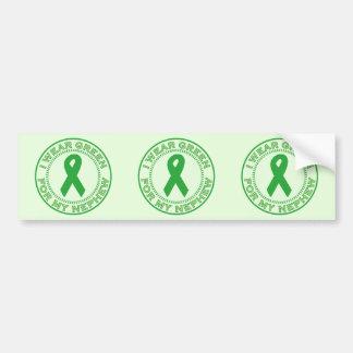 I Wear Green For My Nephew Bumper Sticker