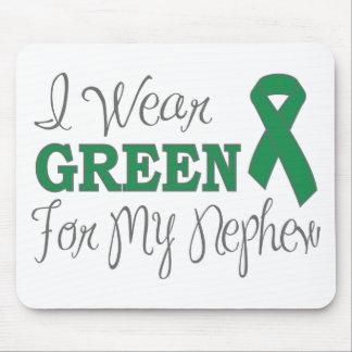 I Wear Green For My Nephew Green Ribbon Mousepad