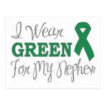 I Wear Green For My Nephew (Green Ribbon) Postcard