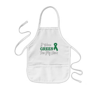 I Wear Green For My Niece (Green Awareness Ribbon) Kids' Apron