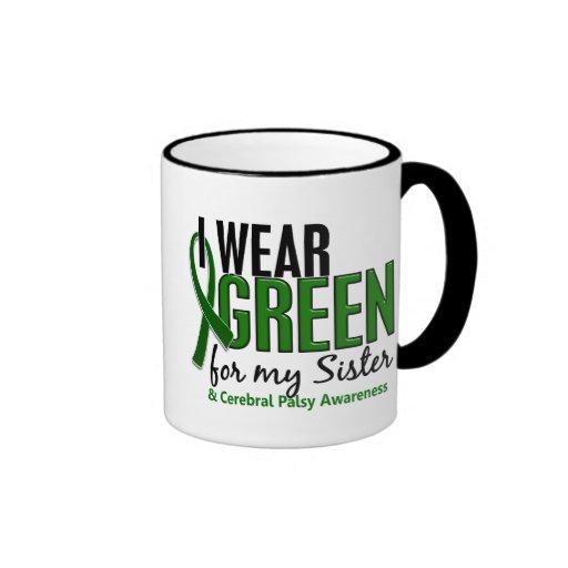 I Wear Green For My Sister 10 Cerebral Palsy Ringer Coffee Mug