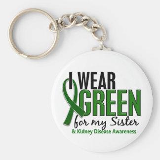 I Wear Green For My Sister 10 Kidney Disease Keychain